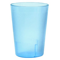 8 oz. Blue Stackable Pebbled Plastic Tumbler - 12 / Pack
