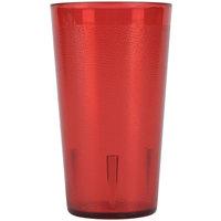 9.5 oz. Red SAN Plastic Pebbled Tumbler - 12/Pack