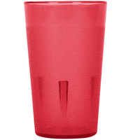 5 oz. Red Pebbled Plastic Tumbler - 12/Pack