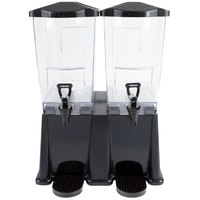 Carlisle 1085103 3 Gallon Black Double Premium Beverage / Juice Dispenser