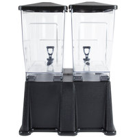 Black Carlisle 1085103 3 Gallon Double Premium Beverage / Juice Dispenser