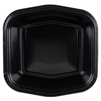 Genpak 50005 Smart-Set 7 inch x 7 inch Black Foam Serving Tray - 500/Case
