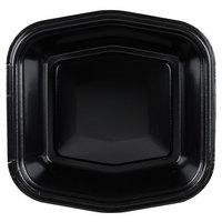 Genpak 50005 Smart-Set 7 inch x 7 inch Black Foam Serving Tray - 500/Case