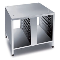 Rational 60.30.331 UG II 42 inch x 36 3/4 inch Open Front and Back Equipment Stand for 62 and 102 Combi Ovens (14 Pan Capacity)