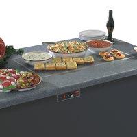 Hatco GRSSB-3618 36 inch x 18 inch Glo-Ray Built-In Night Sky Heated Stone Warmer Shelf - 120V, 930W