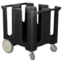 Cambro DC1225110 Black Poker Chip Dish Dolly / Caddy with Vinyl Cover - 4 Column