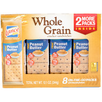 Lance Whole Grain Peanut Butter Sandwich Crackers 8 Count Box - 14/Case
