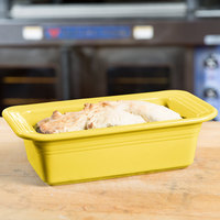 Homer Laughlin 813320 Fiesta Sunflower 5 3/4 inch x 10 3/4 inch x 3 inch Loaf Pan - 3/Case