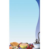 8 1/2 inch x 14 inch Menu Paper - Breakfast Themed Table Setting Design Right Insert - 100/Pack