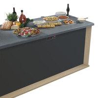 Hatco GRSSB-3618 36 inch x 18 inch Glo-Ray Built-In Gray Granite Heated Stone Warmer Shelf - 120V, 930W