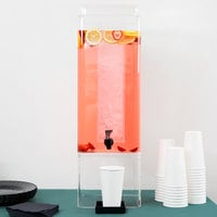 Cal-Mil 1112-5A Clear Acrylic 5 Gallon Square Beverage Dispenser