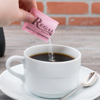 Regal Foods 1 Gram Pink Saccharin Sugar Substitute Packet - 2000/Case