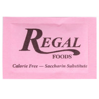 Regal Foods 1 Gram Pink Sugar Substitute Packet - 2000/Case