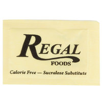 Regal Foods 1 Gram Yellow Sugar Substitute Packet   - 2000/Case