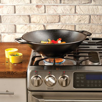 Lodge Pro-Logic P14W3 14 inch Pre-Seasoned Cast Iron Wok