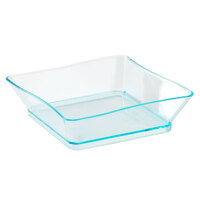 Fineline Tiny Temptations 6201GRN 2 1/4 inch x 2 1/4 inch Tiny Trays Disposable Plastic Tray - Green 10 / Pack