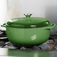 Lodge EC6D53 6 Qt. Emerald Green Color Enamel Dutch Oven