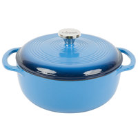 Lodge EC4D33 4.6 Qt. Caribbean Blue Color Enamel Dutch Oven