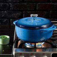 Lodge EC4D33 4.6 Qt. Caribbean Blue Enameled Cast Iron Dutch Oven