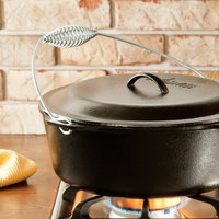 Lodge L12DO3 9 Qt. Pre-Seasoned Cast Iron Dutch Oven with Spiral Bail Handle