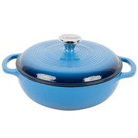 Lodge EC3D33 3 Qt. Caribbean Blue Color Enamel Dutch Oven
