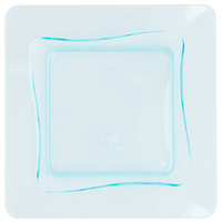 Fineline Tiny Temptations 6200-GRN 3 inch x 3 inch Tiny Trays Disposable Green Plastic Tray - 10/Pack