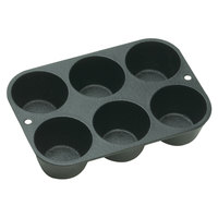 Lodge L5P3 Pre-Seasoned Cast Iron Muffin Pan with 6 Cups