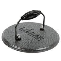 Lodge LGPR3 7 1/2 inch Pre-Seasoned Cast Iron Grill Press