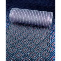 Cactus Mat 3548R-2 Anchor-Runner 2 1/4' Wide Clear Vinyl Heavy-Duty Carpet Protection Runner Mat - 5/16 inch Thick