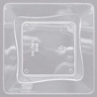 Fineline B6200-CL Tiny Temptations 3 inch x 3 inch Tiny Trays Clear Disposable Plastic Tray - 10/Pack