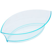 Fineline Tiny Temptations 6207-GRN 4 1/4 inch x 2 1/4 inch Tiny Treasures Disposable Green Plastic Tray - 10/Pack