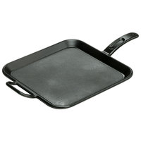 Lodge Pro-Logic P12SG3 12 inch Pre-Seasoned Cast Iron Square Griddle