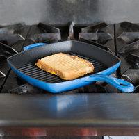 Lodge ECSGP33 10 inch Square Caribbean Blue Color Enamel Grill Pan
