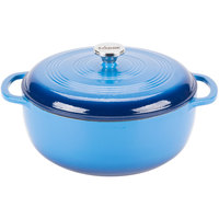 Lodge EC7D33 7.8 Qt. Caribbean Blue Color Enamel Dutch Oven
