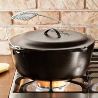 Lodge L10DO3 7 Qt. Pre-Seasoned Cast Iron Dutch Oven with Spiral Bail Handle