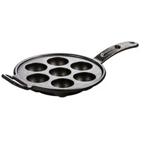 Lodge Pro-Logic P7A3 Pre-Seasoned Cast Iron Aebleskiver Pan with 7 Impressions
