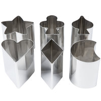 Ateco 1428 6-Piece 3 inch Tall Stainless Steel Fancy Shaped Cutter Set (August Thomsen)