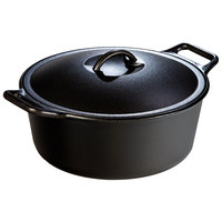 Lodge P12D3 7 Qt. Pre-Seasoned Cast Iron Dutch Oven with Loop Handles