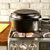 Lodge L8DD3 5 Qt. Pre-Seasoned Cast Iron Double Dutch Oven