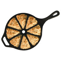 Lodge L8CB3 Pre-Seasoned Cast Iron Wedge Pan with 8 Impressions
