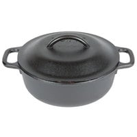 Lodge L2SP3 2 Qt. Pre-Seasoned Cast Iron Serving Pot