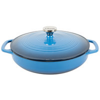 Lodge EC3CC33 3.6 Qt. Caribbean Blue Color Enamel Casserole
