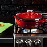 Lodge EC3D43 3 Qt. Island Spice Red Enameled Cast Iron Dutch Oven