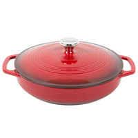 Lodge EC3CC43 3.6 Qt. Island Spice Red Color Enamel Casserole