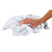 Chef Revival 700BRT28 16 inch x 19 inch White 28 oz. Ribbed 100% Cotton Bar Towel   - 12/Pack