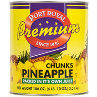Pineapple Chunks in Natural Juice - (6) #10 Cans / Case