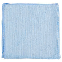 Chef Revival MF100BL 16 inch x 16 inch Blue Microfiber Towel - 6/Pack