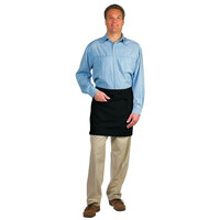Chef Revival 607HBA2-BK Customizable Two Pocket Black Bistro Apron - 28 inchL x 19 inchW