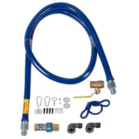 Dormont 1650KIT72 Deluxe SnapFast® 72 inch Gas Connector Kit with Two Elbows and Restraining Cable - 1/2 inch Diameter