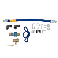 Dormont 1650KIT24 Deluxe SnapFast® 24 inch Gas Connector Kit with Two Elbows and Restraining Cable - 1/2 inch Diameter